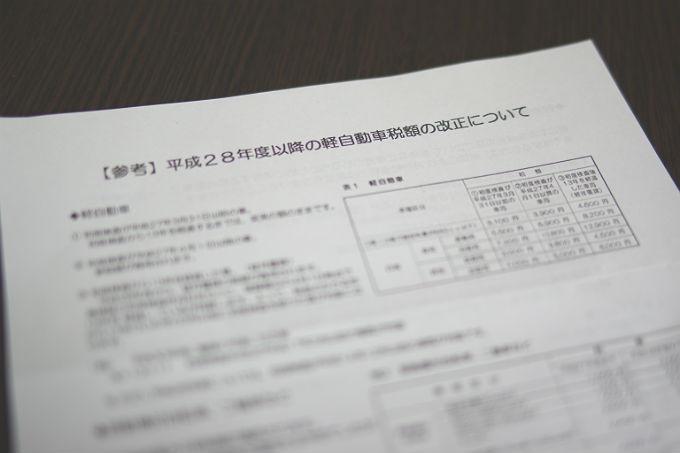 軽自動車税額の改正について